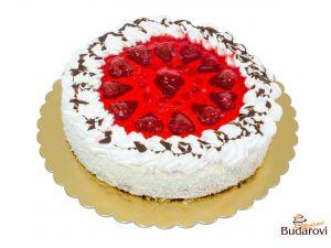 Ovocný dort šlehačkový - jahoda
