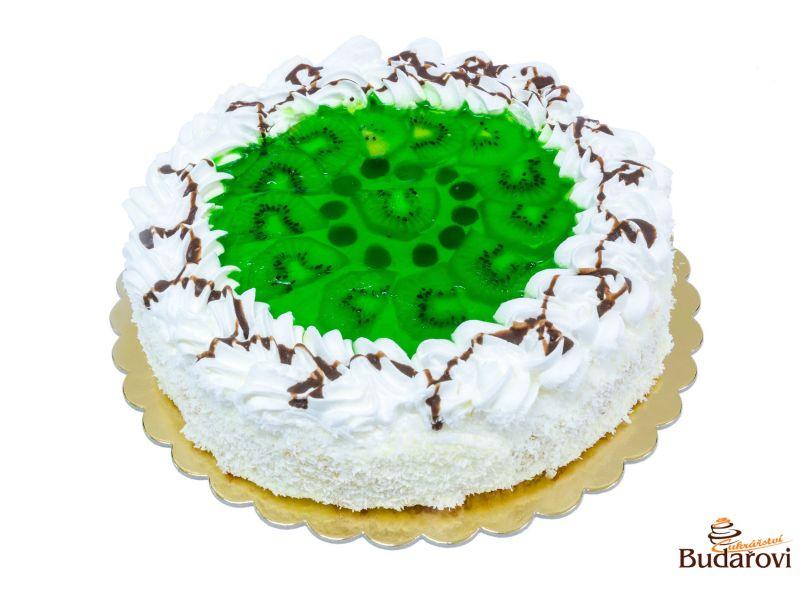Ovocný dort šlehačkový - kiwi