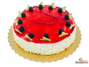 Ostružinový dort