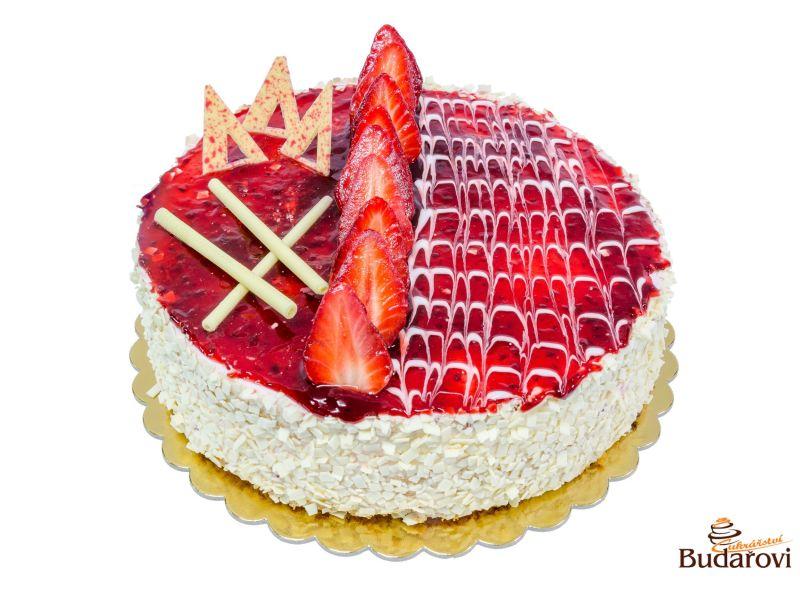 720 - Šlehačkový dort jahodový