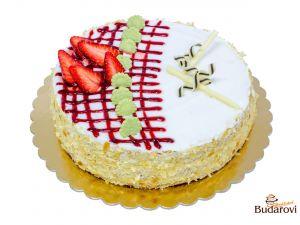 721 - Šlehačkový dort tvarohový