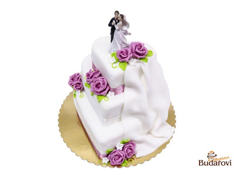 467 - Srdce 3 patra - svatební