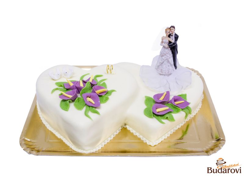 460 - Dvojsrdce svatební