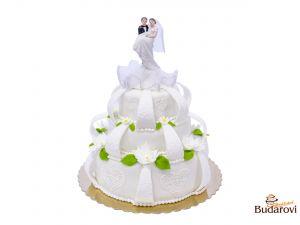 402 - Svatební dort 3 patrový