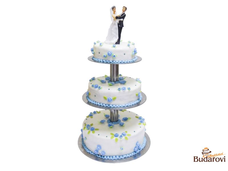 407 - Svatební dort 3 patrový