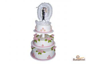 404 - Svatební dort 3 patrový