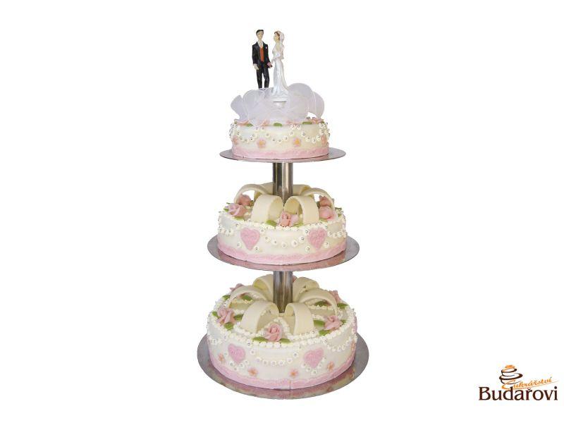 406 - Svatební dort 3 patrový