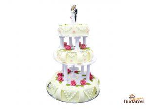 405 - Svatební dort 3 patrový