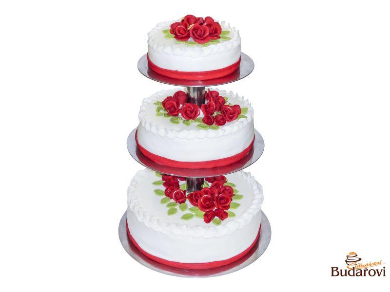 403 - Svatební dort 3 patrový