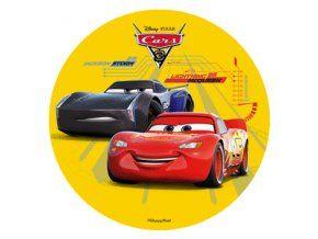Jedlý oplatek - Cars - průměr 20 cm B