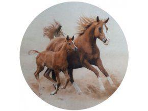 Jedlý oplatek 2 koně průměr 20 cm