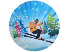 Jedlý oplatek lyžař - 20 cm