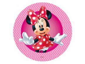Jedlý oplatek 6 Minnie Mouse 20 cm