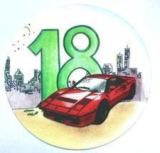"""Jedlý oplatek 1 Auto k """"18"""" - 20 cm"""