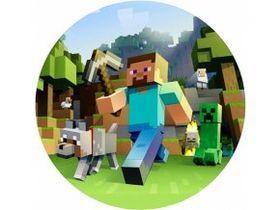 Jedlý oplatek 2 Minecraft - 20 cm