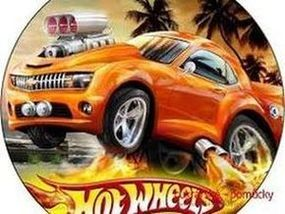 Jedlý oplatek 1 Hot Wheels - 20 cm