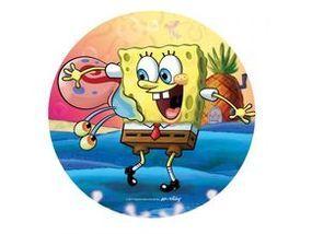Jedlý oplatek 2 Spongebob - 20 cm