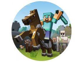 Jedlý oplatek 3 Minecraft - 20 cm