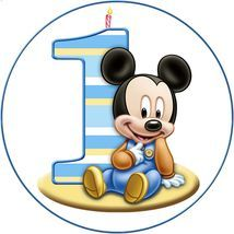 Jedlý oplatek Mickey č. 1 - 20 cm