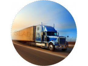 Jedlý oplatek - kamion - 20 cm