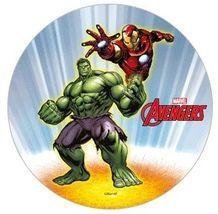 Jedlý oplatek Avengers 1 - 20 cm