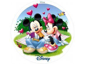 Jedlý oplatek Mickey s Minnie 20 cm
