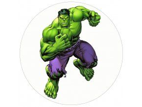 Jedlý oplatek Hulk - 20 cm