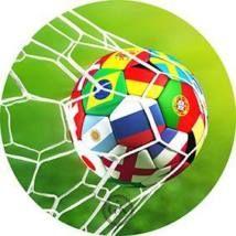 Jedlý oplatek- 1 fotbal - 20 cm