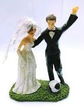 Svatební figurka 027 - fotbalista