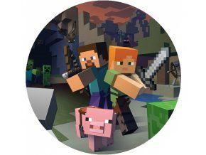 Jedlý oplatek 4 Minecraft - 20 cm