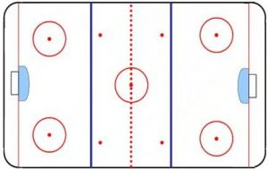 Opl. - Hokejové hřiště - 18x28 cm
