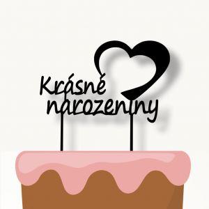 Zápich na dort - Krásné narozeniny
