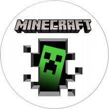 Jedlý oplatek 7 Minecraft - 20 cm