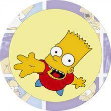 Jedlý opl. - Bart Simpson - 20 cm